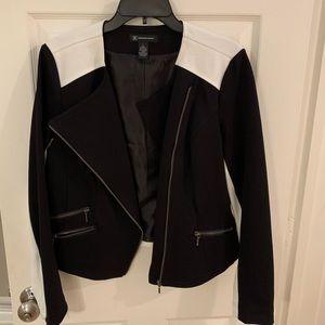 Black and white zippered jacket